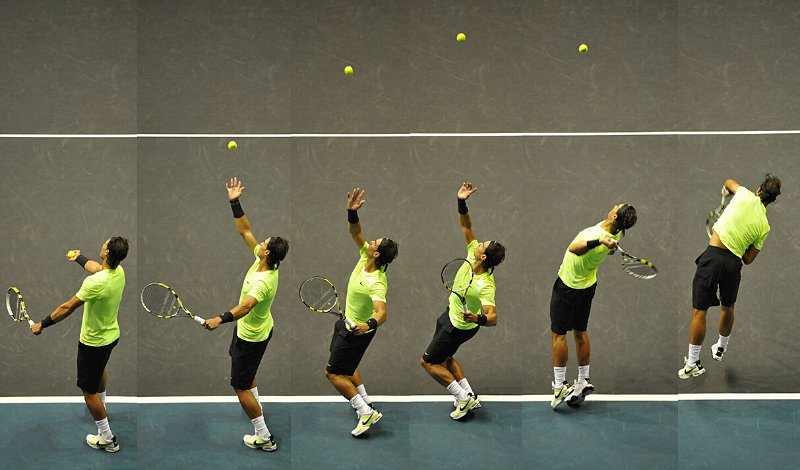 Cách giao bóng tennis
