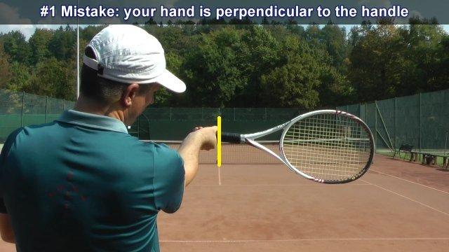 Sai lầm khi cầm vợt