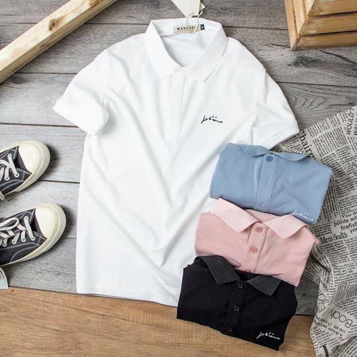Áo lớp đơn giản cực kỳ dễ phối. Kiểu áo lớp polo này phù hợp cho những người đã ra trường lâu năm, hoặc các bạn sinh viên ra trường
